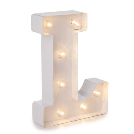 Darice Light Up Marquee Letter: White Letter L, 9.875 - Light Up Jewelry