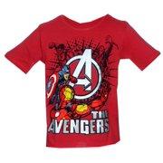 Avengers Foil Print Marvel Comics Juvenile Superhero T-Shirt Tee