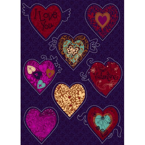 Brewster Home Fashions Euro Freestyle Valentine Wall Decal