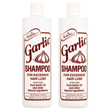 Nutrine Garlic Shampoo - Scented 16oz (Pack of 2)