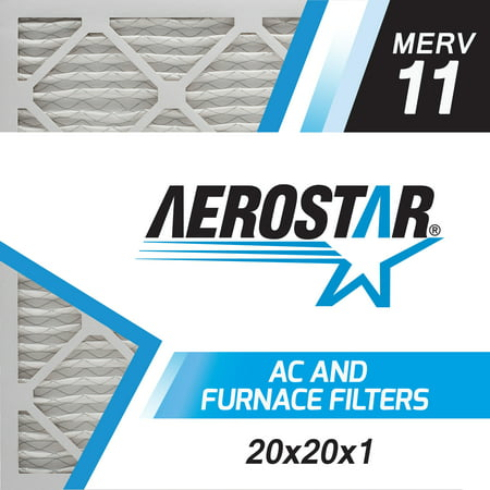 Box Furnace (20x20x1 AC and Furnace Air Filter by Aerostar - MERV 11, Box of 6)