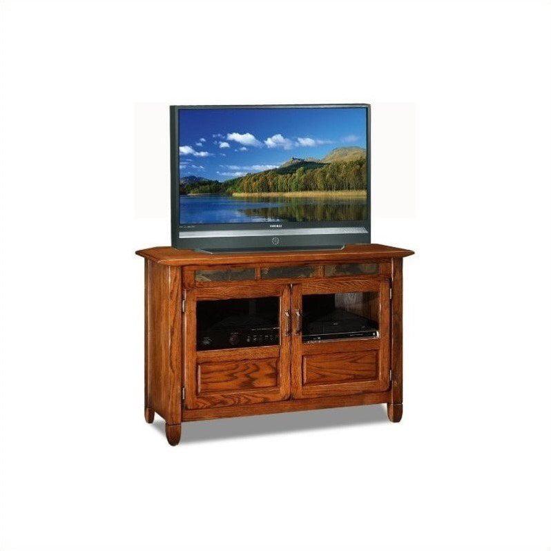 "Leick Furniture 46"" TV Stand in a Distressed Rustic Oak Finish by Leick Furniture"