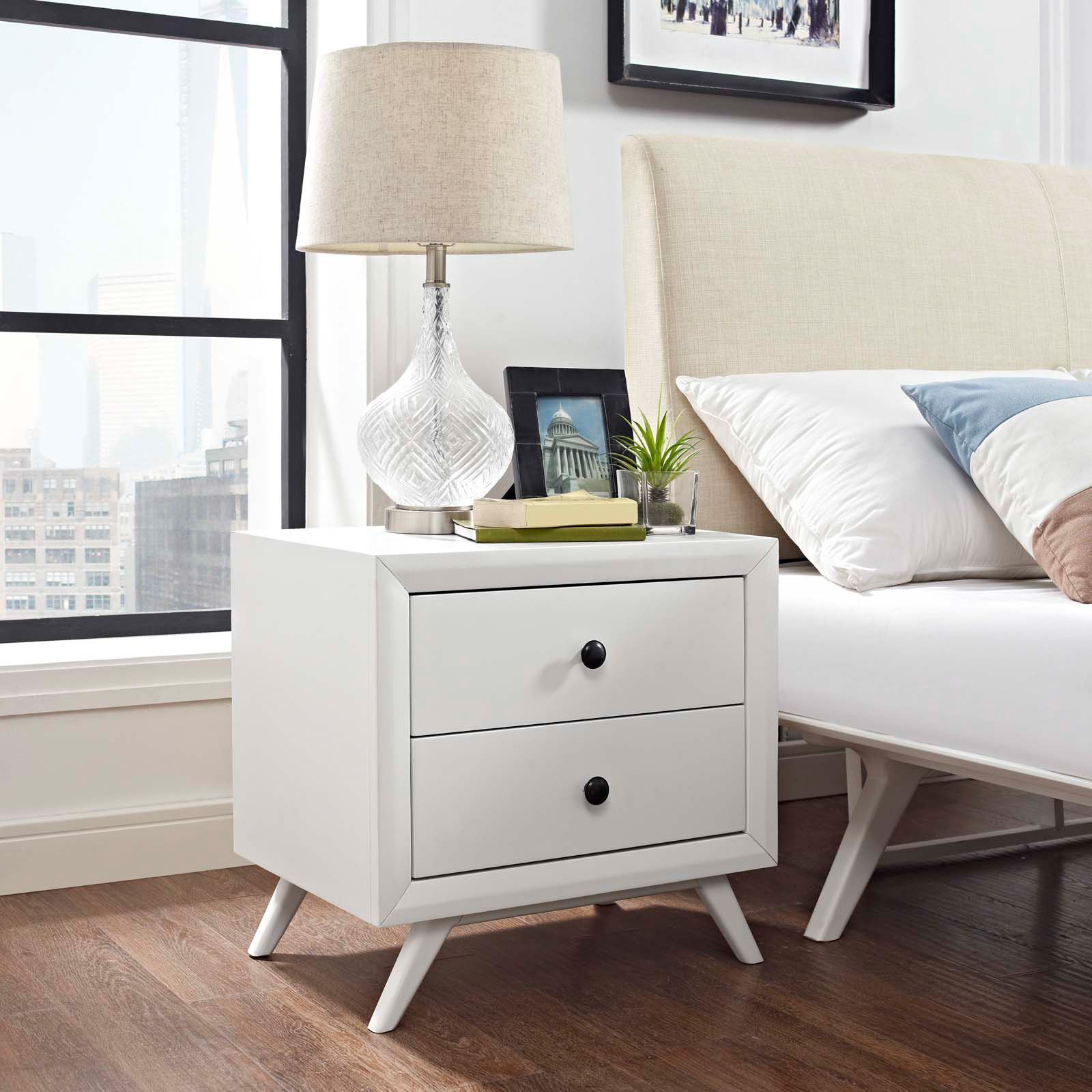 Modway Tracy Nightstand in White