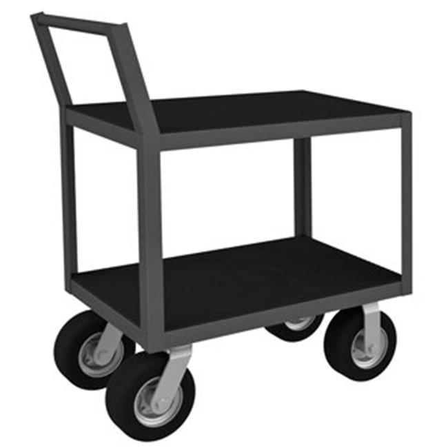 Durham LIC-1830-2-8SPN-95 40 in. Low Profile Instrument Cart, Gray - 1200 lbs