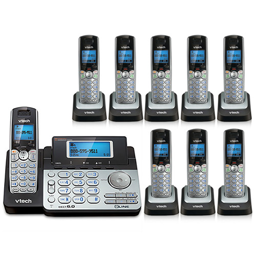 VTech DS6151 + (8) DS6101 2 Line Expandable cordless phone by VTech