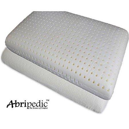 abripedic single standard latex like lavender ventilated traditional pillow