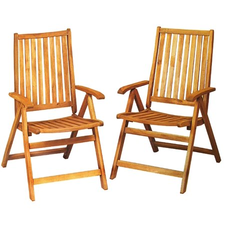 set of 2 acacia wood folding chairs outdoor patio furniture walmart