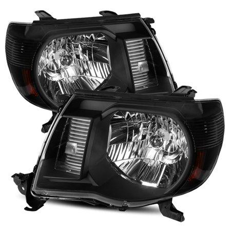 Toyota Tacoma Crystal Headlights (Modifystreet For 05-11 Toyota Tacoma Black Crystal Headlights Left/Right Assembly )