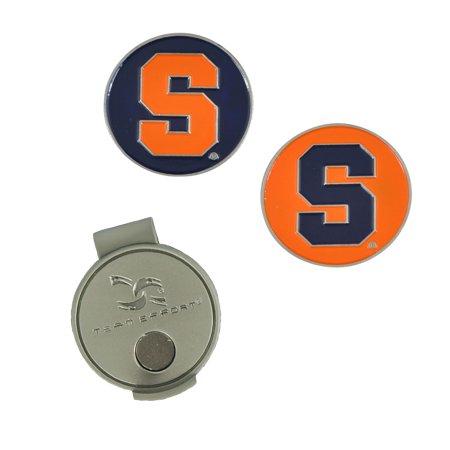 Team Effort Syracuse Orangemen Golf Hat Clip & 2 Ball Markers
