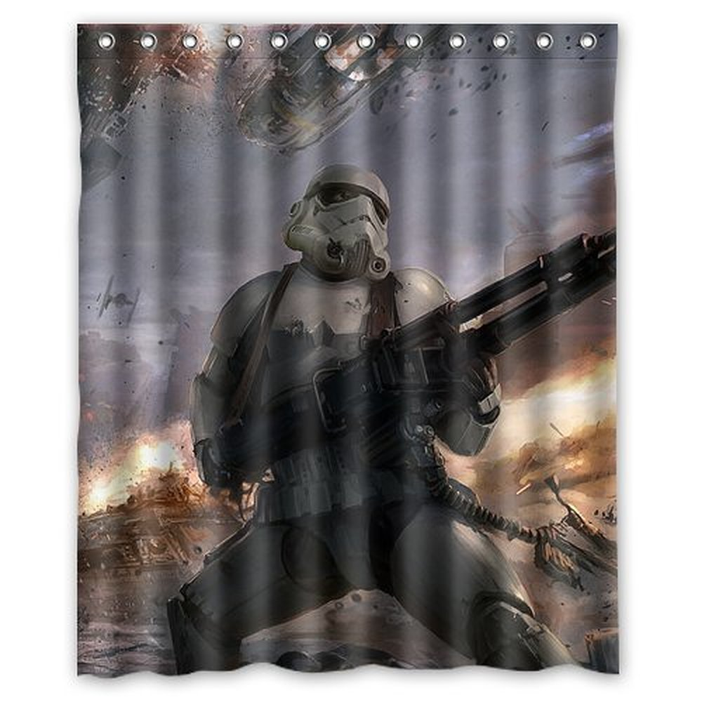 DEYOU Star War Stormtroopers Shower Curtain Polyester Fabric Bathroom Size 60x72 Inches