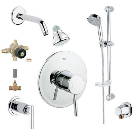Grohe 2WVC-COPC Custom Shower 2-Wall Volume Control System, Chrome