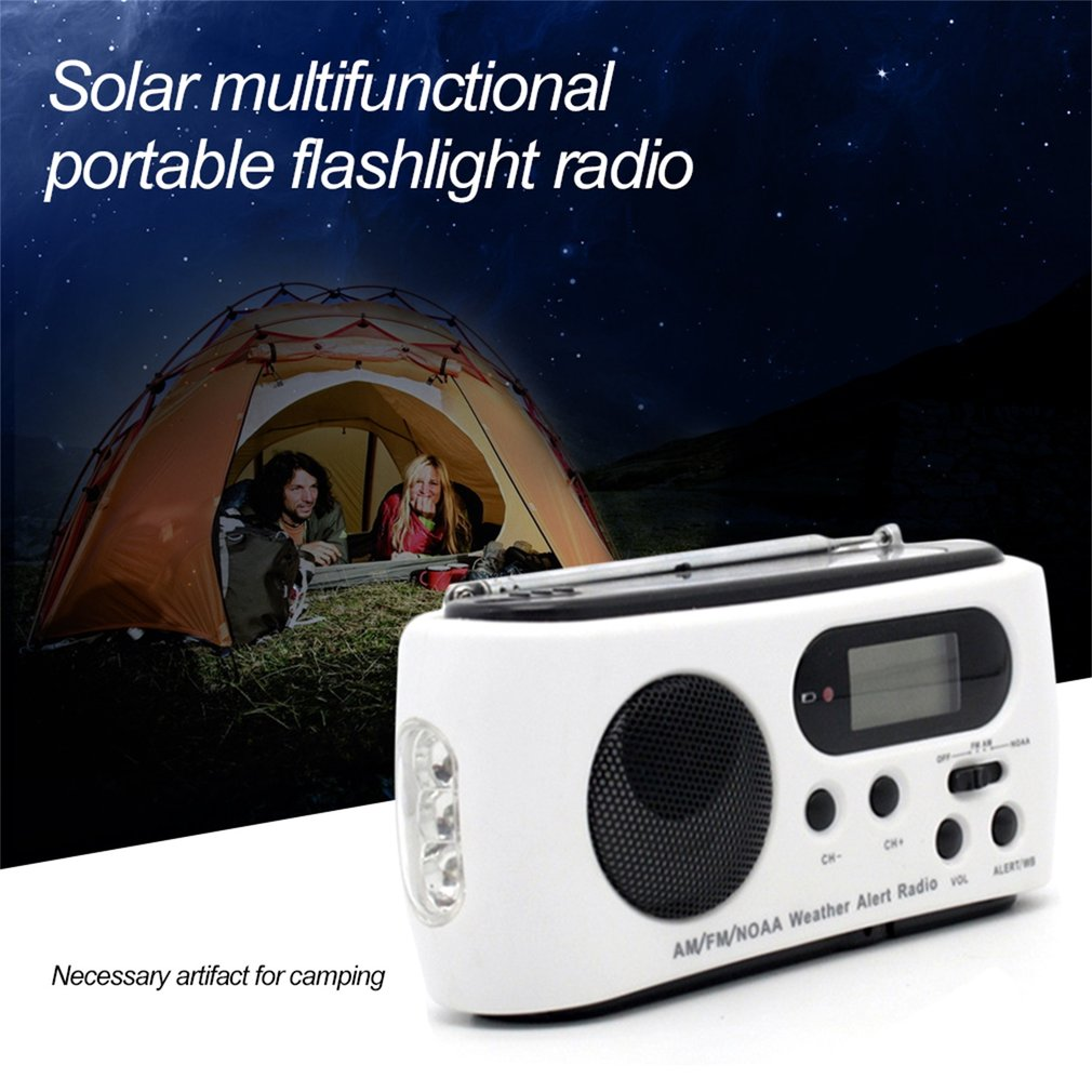 FM AM Emergency Radio Multiband With Cell Phone Charger Portable Flashlight by SUNNY SKY
