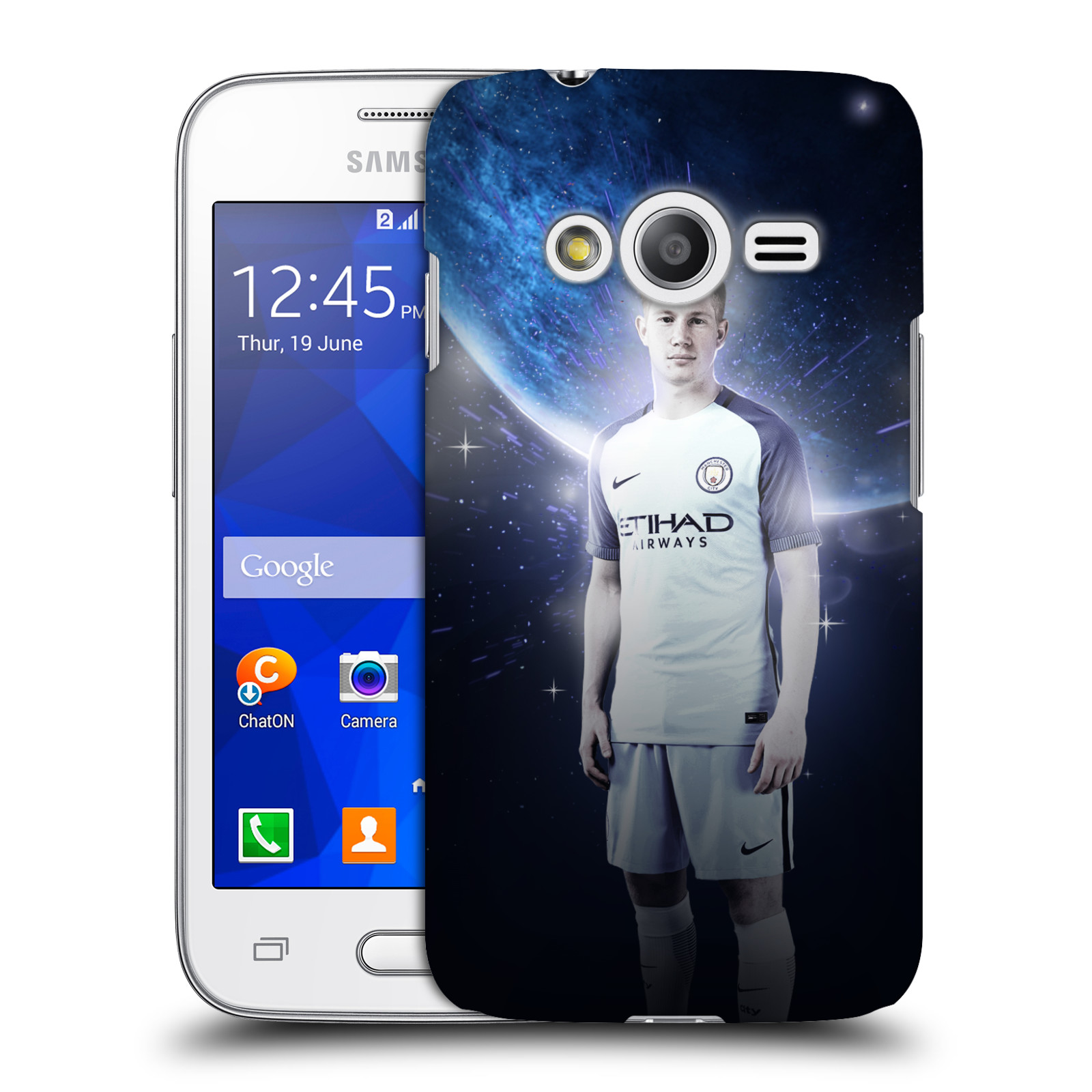 OFFICIAL MANCHESTER CITY MAN CITY FC POWER PLAYERS HARD BACK CASE FOR SAMSUNG PHONES 3