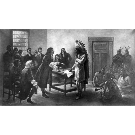 King Philips War 1676 Rolled Canvas Art - Science Source (24 x 18) (King Philips War)