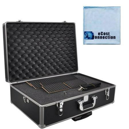 Semi Hard Camera Case - Extra Large Hard Camera Equipment Case (Fits Camera, Lenses & More...) For Canon, Nikon, Sony, Samsung, Olympus & Pentax + Microfiber Cloth