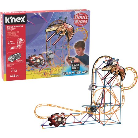 K'NEX Thrill Rides – Space Invasion Roller Coaster 438 Piece Building - Knex Roller Coasters