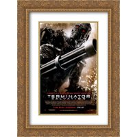 Terminator Salvation 20x24 Double Matted Gold Ornate Framed Movie Poster Art Print