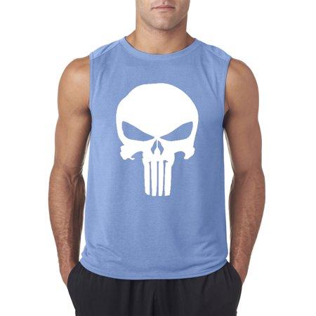 New Way 216 - Men's Sleeveless The Punisher Skull Logo - The Punisher Suit