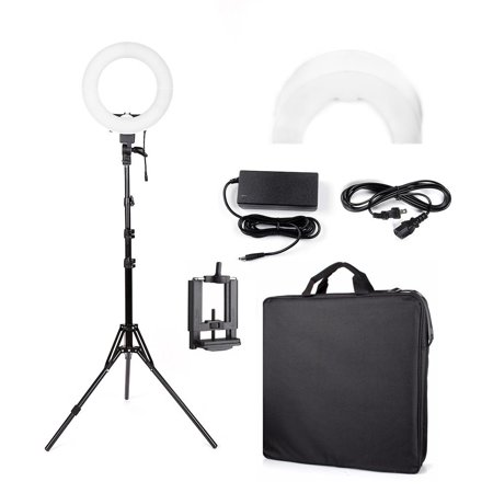 - Ktaxon 180pcs LED Ring Light Dimmable 5500K Lighting Video Continuous Light Stand Kit