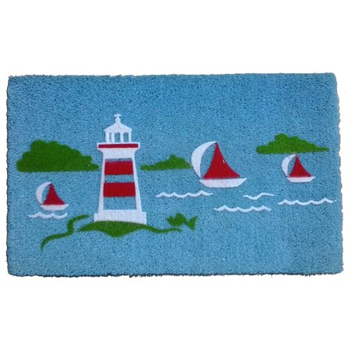 Imports Decor Yacht Light House Doormat