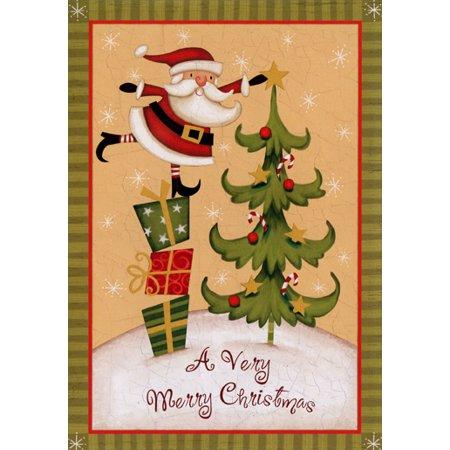 Image Arts Santa with Star Box of 18 Christmas Cards