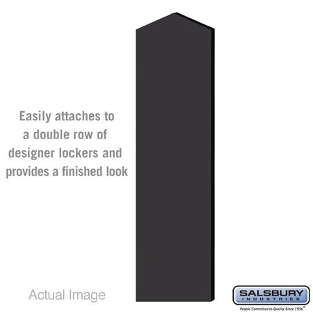Salsbury 33334DE-BLK Double End Side Panel - for 6 Feet High - 18 Inch Deep Designer Wood Locker - with Sloping Hood - Black