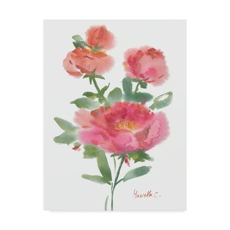 trademark fine art flower series 1 canvas art by marietta cohen
