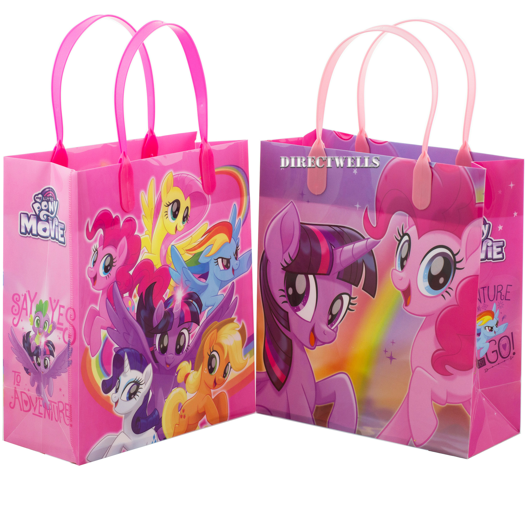 Little Pony 12 Authentic Licensed Party Favor Reusable Goodie Medium Gift Bags 8""