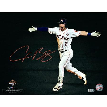 "Alex Bregman Houston Astros 2017 MLB World Series Champions Autographed 11"" x 14"" Game 5 Walk-Off Celebration Photograph - Fanatics Authentic Certified"