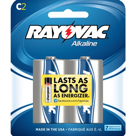 Rayovac High Energy Alkaline C Batteries  2 Count