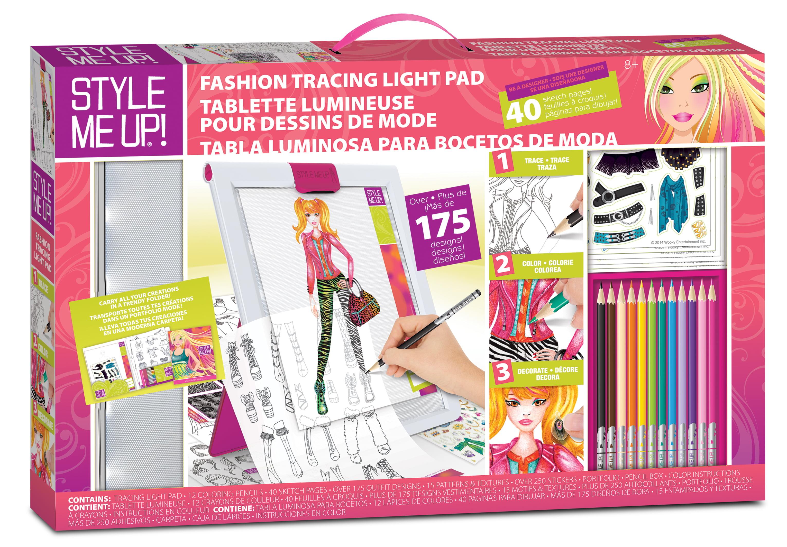 Style Me Up Fashion Tracing Light Pad Walmart Com Walmart Com