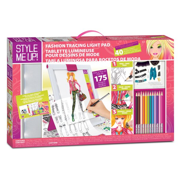 Style Me Up Fashion Tracing Light Pad Walmart Com Walmart Com