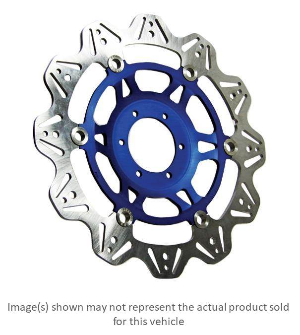 Ebc Vee Series Sport Bike Brake Rotor Blue Hub Front Left For