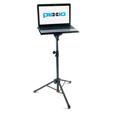 "- Plixio Laptop Stand and Projector Table— Universal Tripod Stand Up Desk with Adjustable Height (27"" to 48"")"