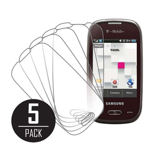 Samsung Gravity Q T289, Screen Protectors, 5-Pack, Clear