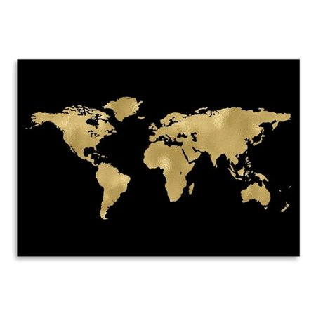 Americanflat world map gold on black poster gallery by amy brinkman americanflat world map gold on black poster gallery by amy brinkman graphic art gumiabroncs Choice Image
