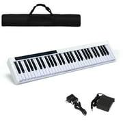 Gymax 61 Key Digital Piano Recital MIDI Keyboard White