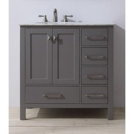 stufurhome 36 inch malibu grey single sink bathroom vanity walmart