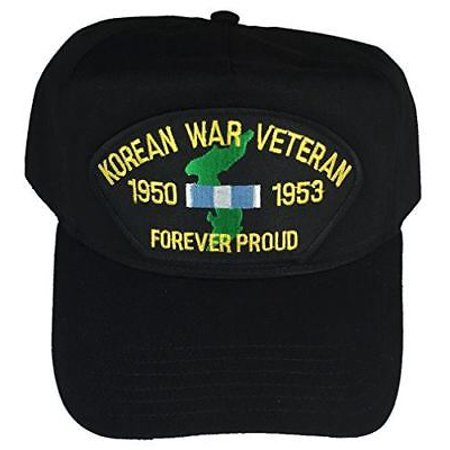 KOREAN WAR VETERAN 1950-53 FOREVER PROUD HAT CAP W/ SERVICE RIBBON