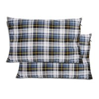 REDCAMP Outdoor Camping Pillow set of 2, Lightweight, 2 pack, Flannel Travel Pillow Cases, Removable Pillow Cover