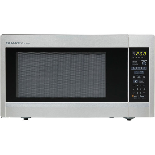 Sharp R551ZS Carousel Countertop Microwave Oven 1.8 cu. ft. 1100W Stainless Steel