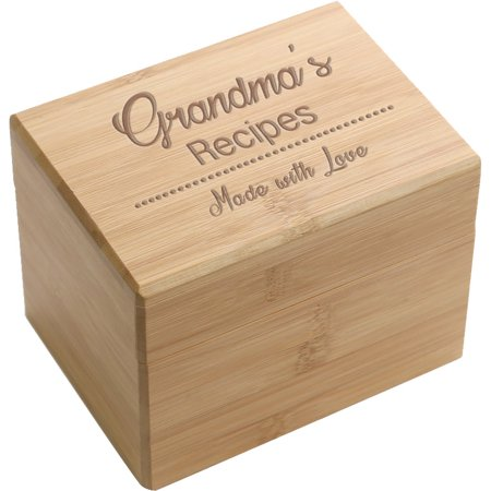 Made With Love Personalized Recipe Box