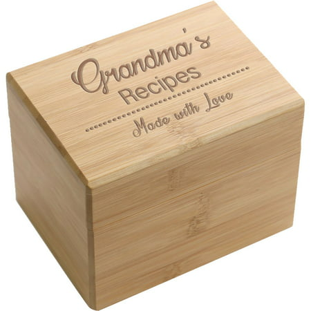Made With Love Personalized Recipe Box (Personalized Boxes)