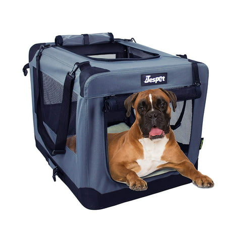 Jespet Soft Dog Crates Kennel for Pets, 3 Door 26