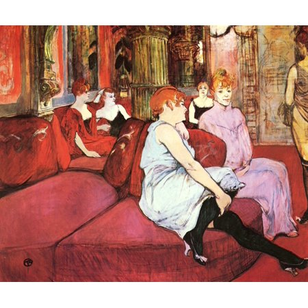 Framed Art for Your Wall Toulouse -Lautrec, Henri de - The salon in the Rue des Moulins 10 x 13