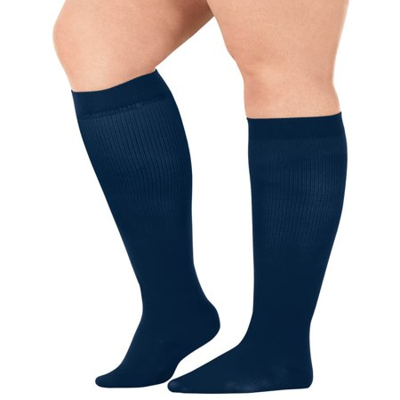 Silver StepsTM Wide Calf Compression Socks, 8-15