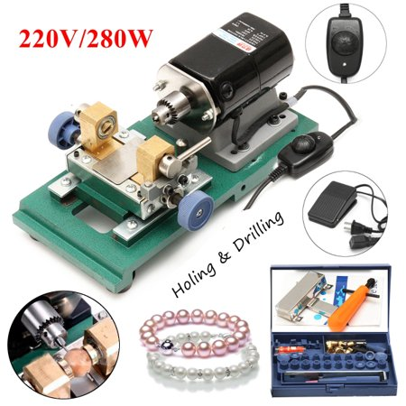 220V 280W Pearl Drilling Holing Machine Driller Jewelry Punch Tools Full Set holemaker for Jewelry Design Repair DIY - image 10 de 10
