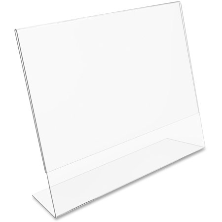 deflecto Classic Image Slanted Desk Sign Holder, Plastic, 11 x 8 1/2 Insert, (Economical Sign Holder)