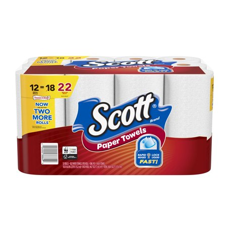 Scott Paper Towels, Choose-A-Sheet, 12 Mega Rolls, 102 Sheets Per Roll (=22 Regular - Halloween Crafts With Paper Towel Roll
