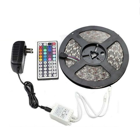 5M Waterproof Car Led Strip Light 3528Rgb Color Marquee With Controller Set Car Decoration Party Accessries - image 1 of 6